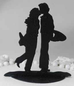 Cowboy cowgirl wedding topper