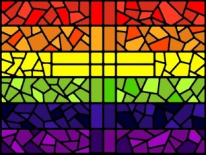 rainbow cross window
